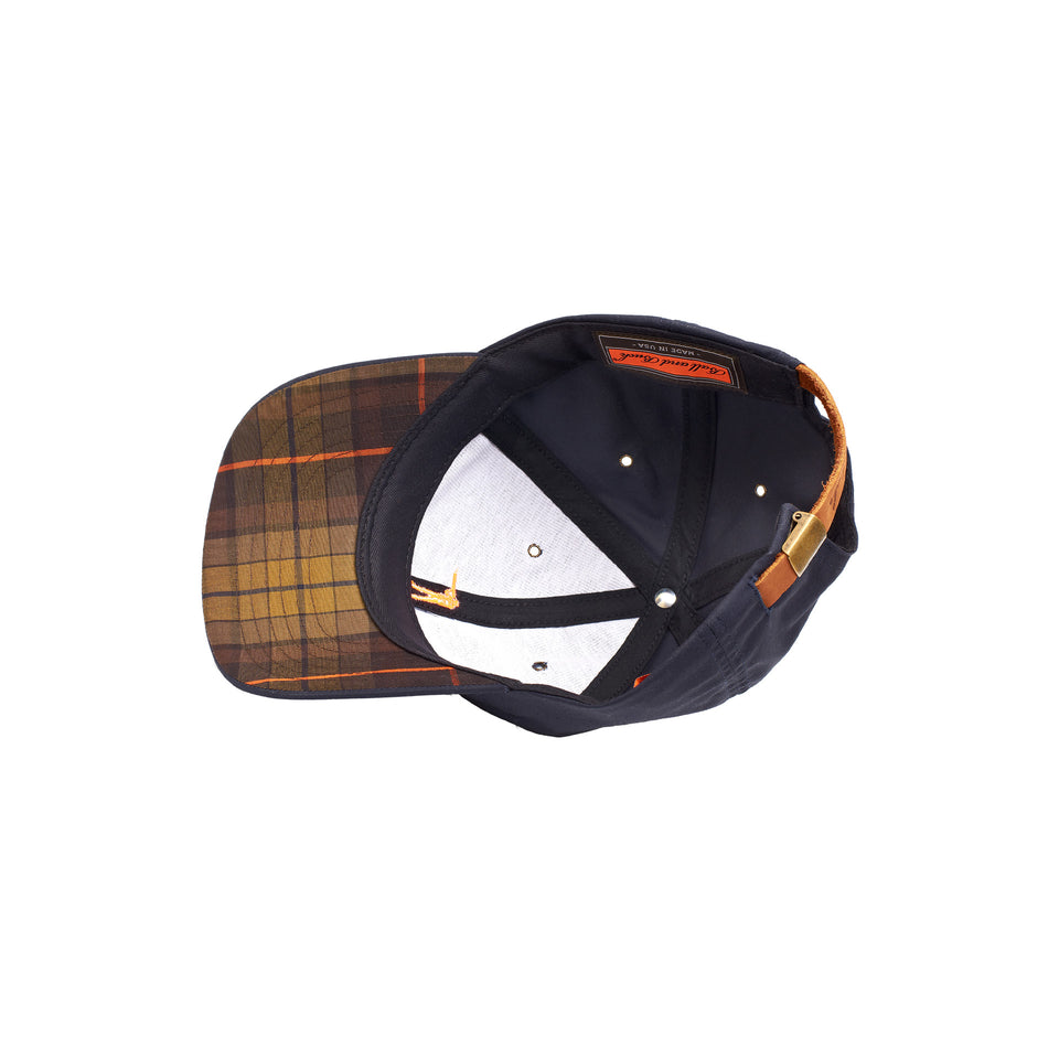 Premium Waxed Cotton Hat - Navy - Signature Plaid - Ball and Buck