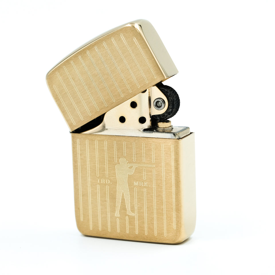 Roger Zippo - Brushed Brass - Ball and Buck