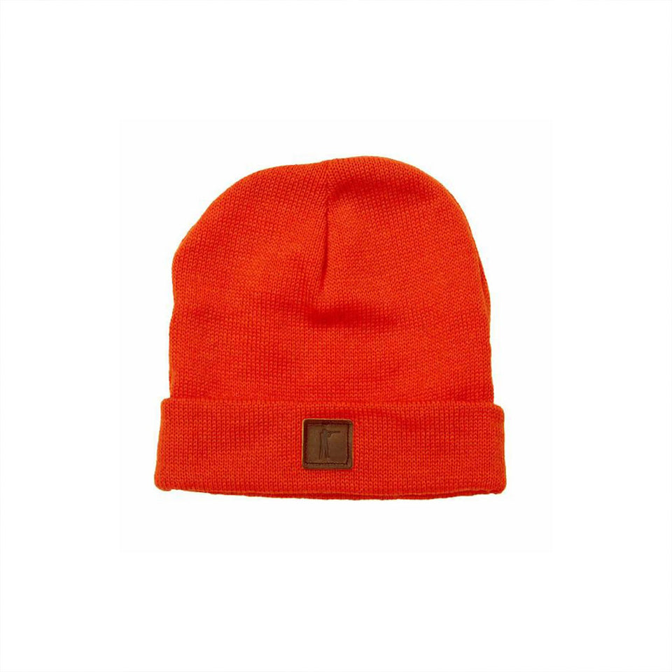 Roger Knit Hat - Blaze Orange Wool