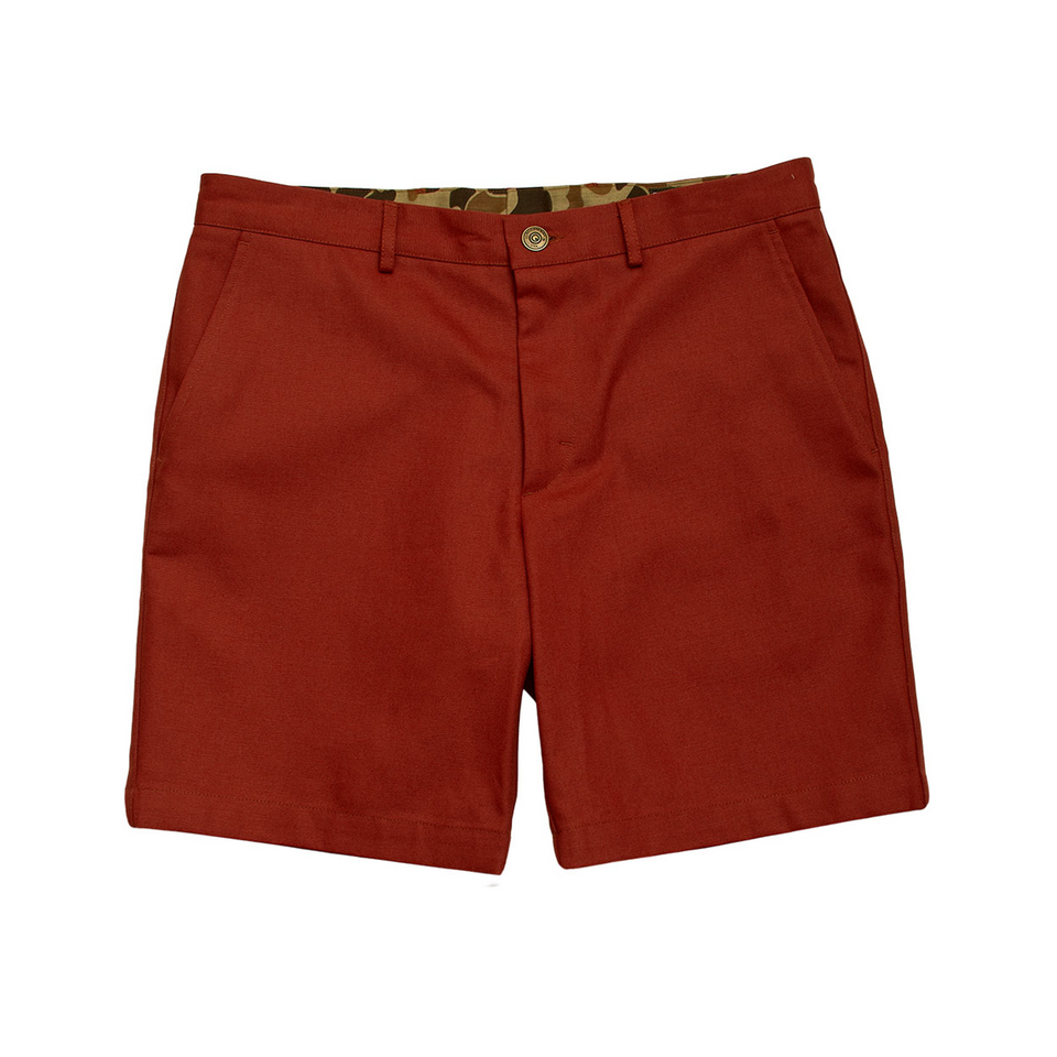 6 Point Duck Cotton Short - Rust