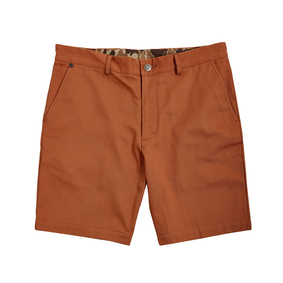 6 Point Short Chino Twill - Nutmeg