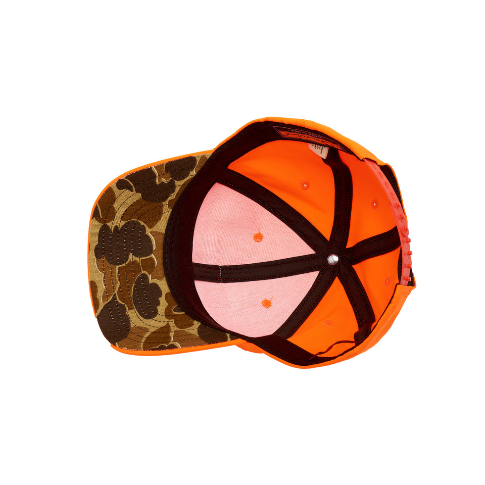 The Scout Hat, Blaze Orange w/ Camo Underbrim
