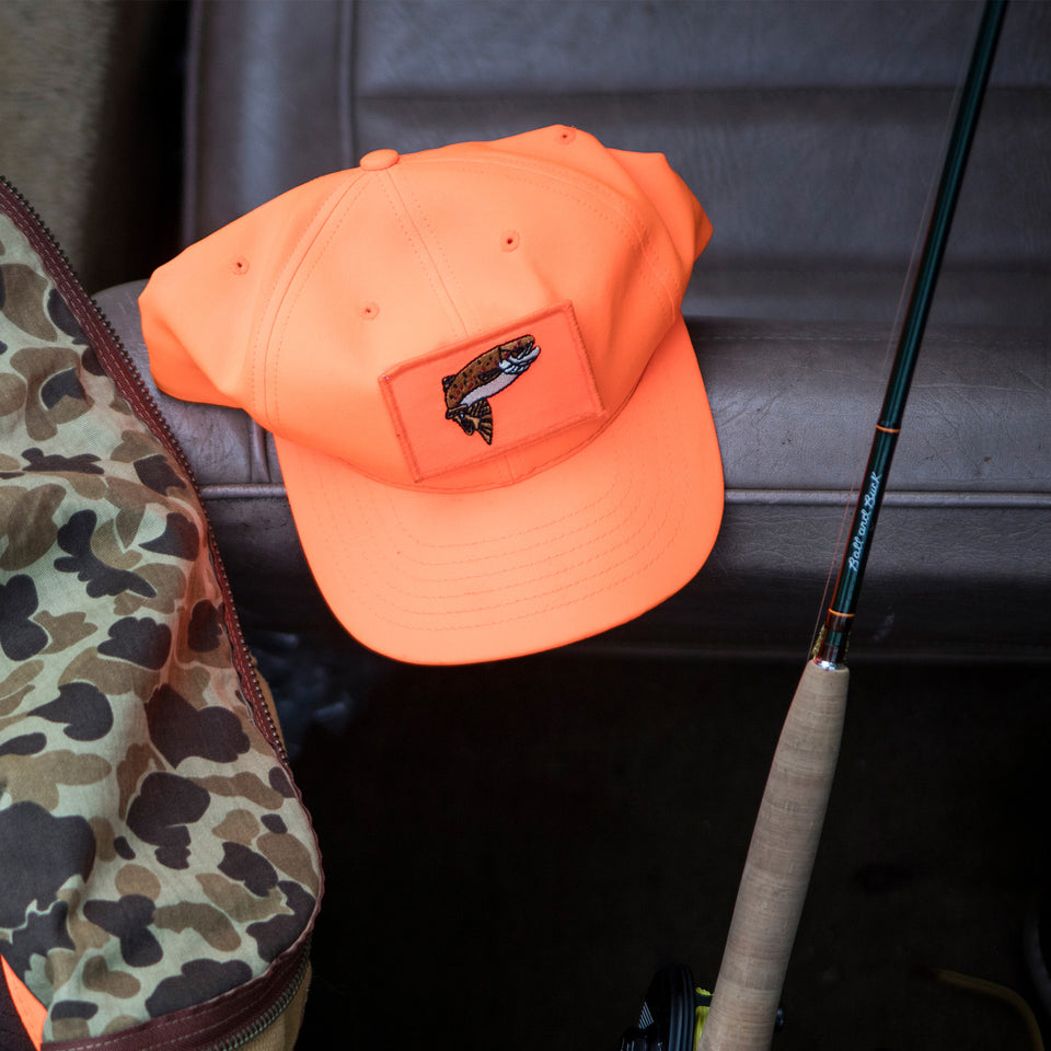 The Scout Hat, Blaze Orange w/ Camo Underbrim - Ball and Buck