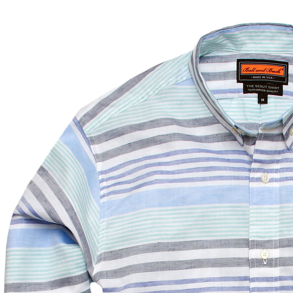 Scout Shirt - Blackfoot River Stripe - Ball and Buck