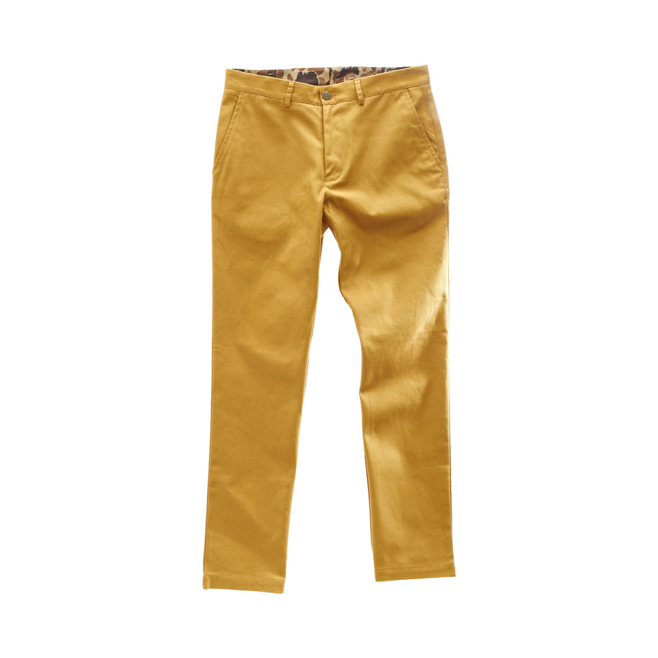 6 Point Duck Cotton Pant - Honey - Ball and Buck