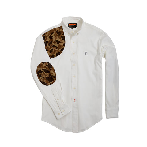 The Hunters Shirt +, White/Original Camo