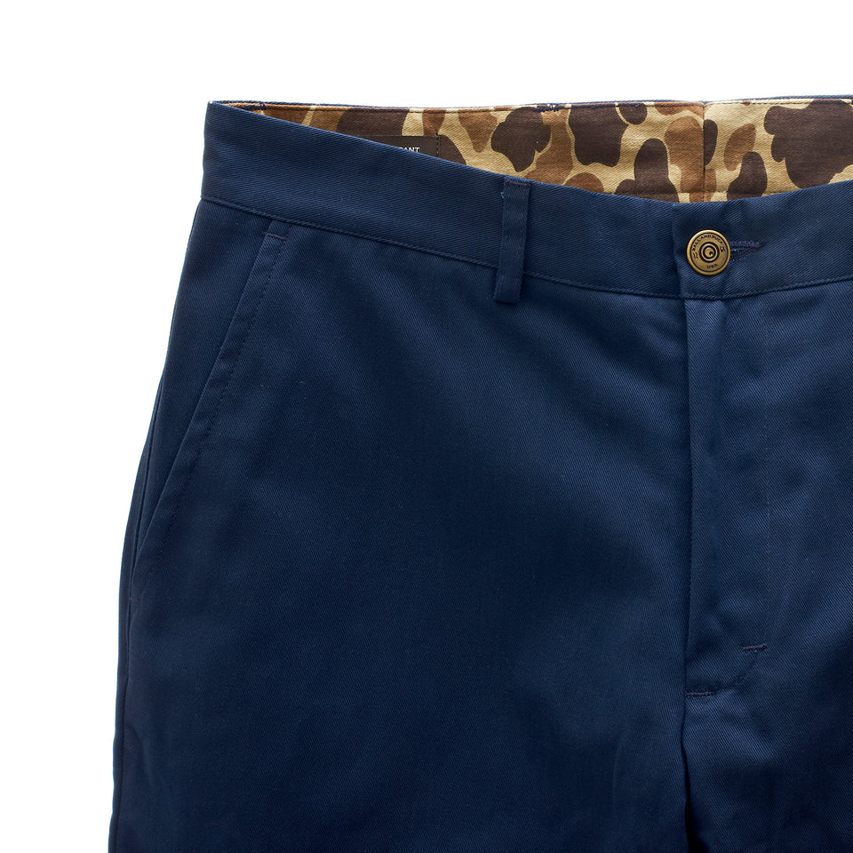 6 Point Duck Cotton Pant - Navy