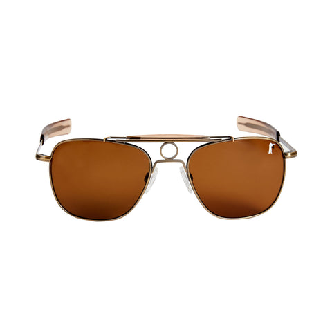 The Anglers Sunglasses, Antique Brass / Tan Polarized