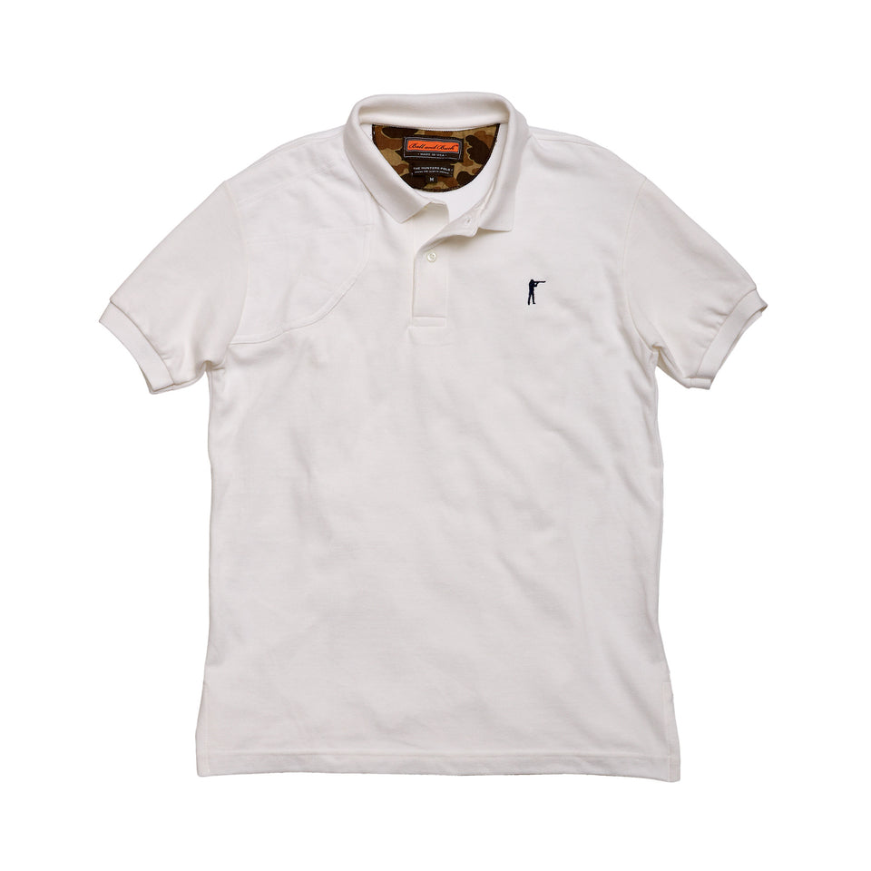 Hunters Polo - White - Ball and Buck