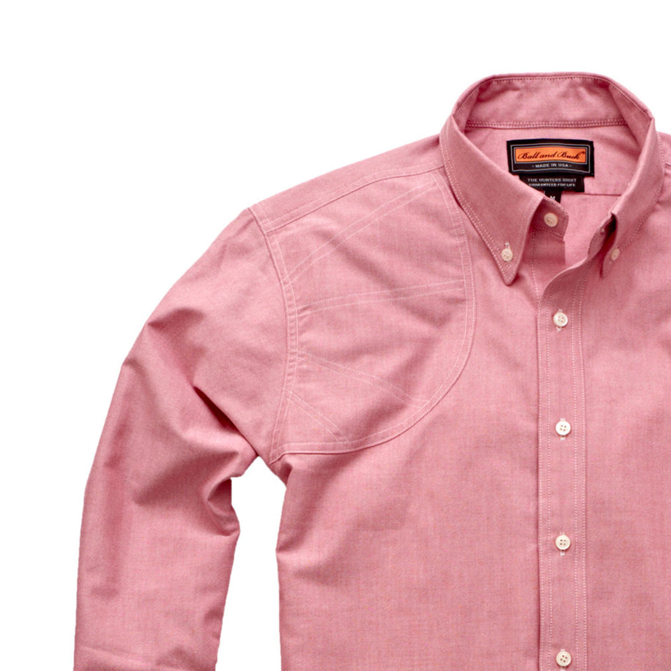 Hunters Shirt - Red Oxford - Ball and Buck