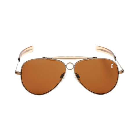 Hunters Sunglasses - Antique Brass - Tan Polarized - featured image