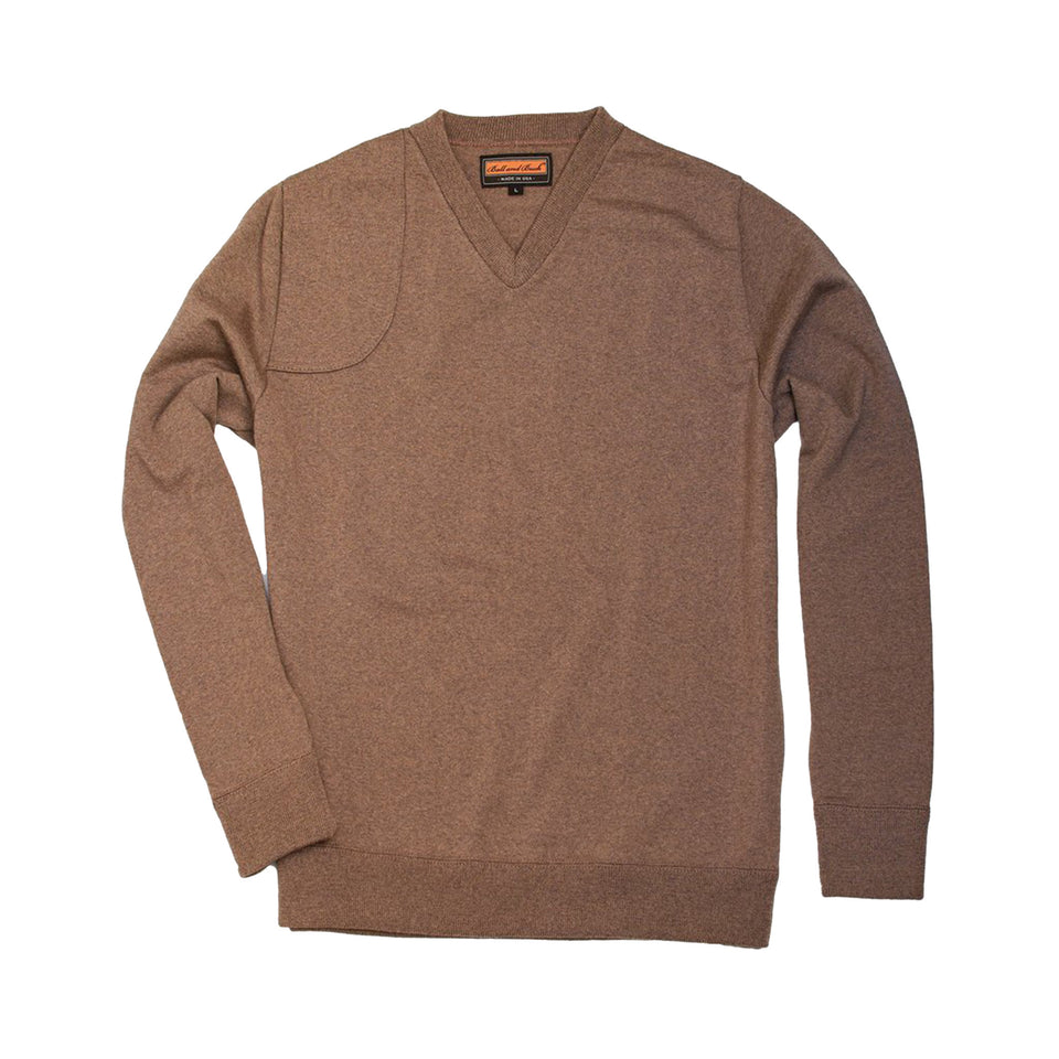 Lightweight Merino V-Neck Sweater - Tan