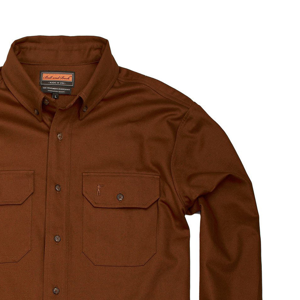 Mariners Overshirt - Sepia - Ball and Buck