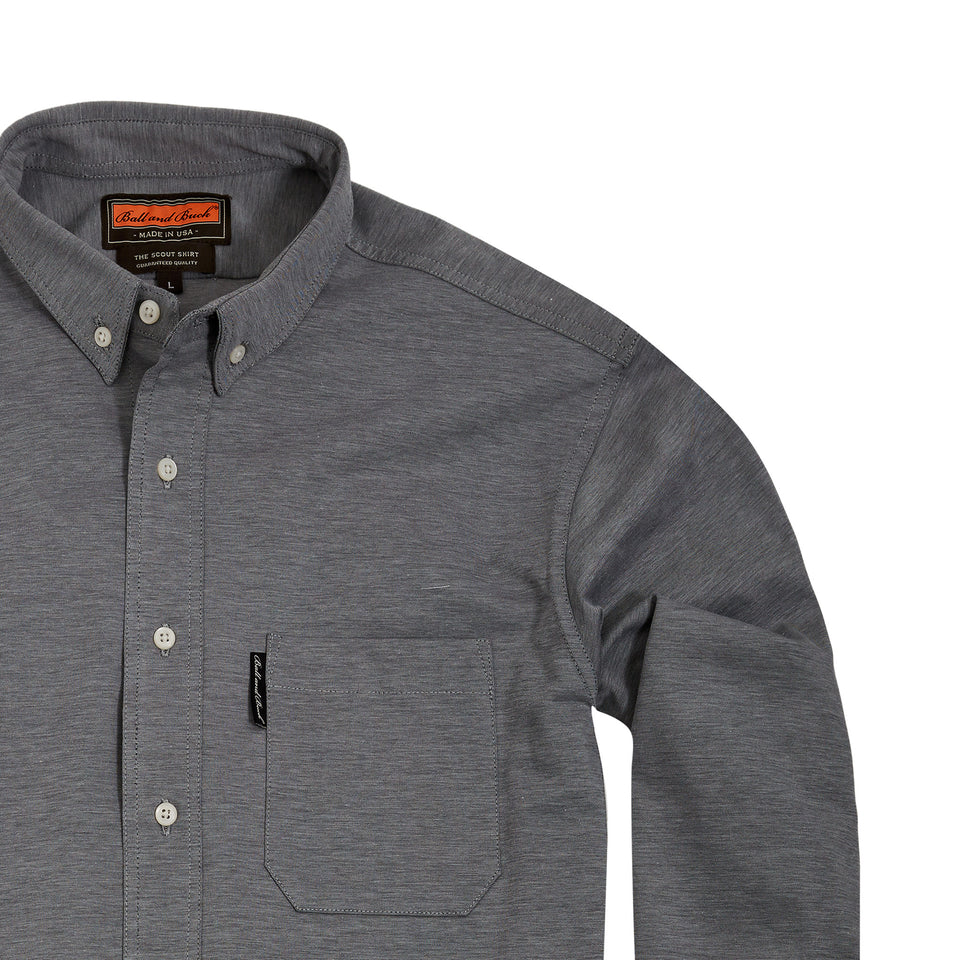 Scout Shirt w/ Pocket + Grey - Ball and Buck