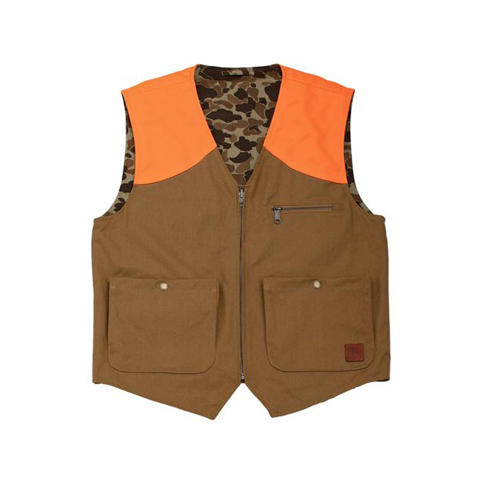 Upland Vest - Field Blaze / Sig. Camo Reversible - Ball and Buck