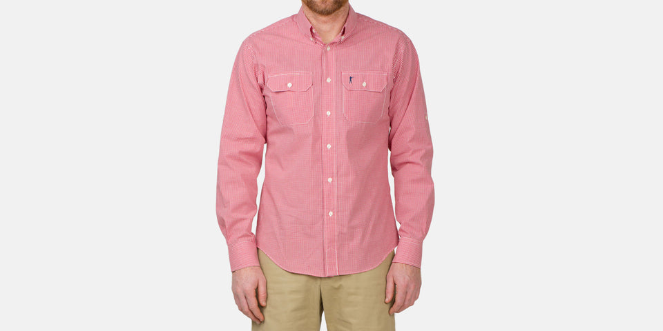Anglers Shirt - Wild Salmon Gingham - Ball and Buck