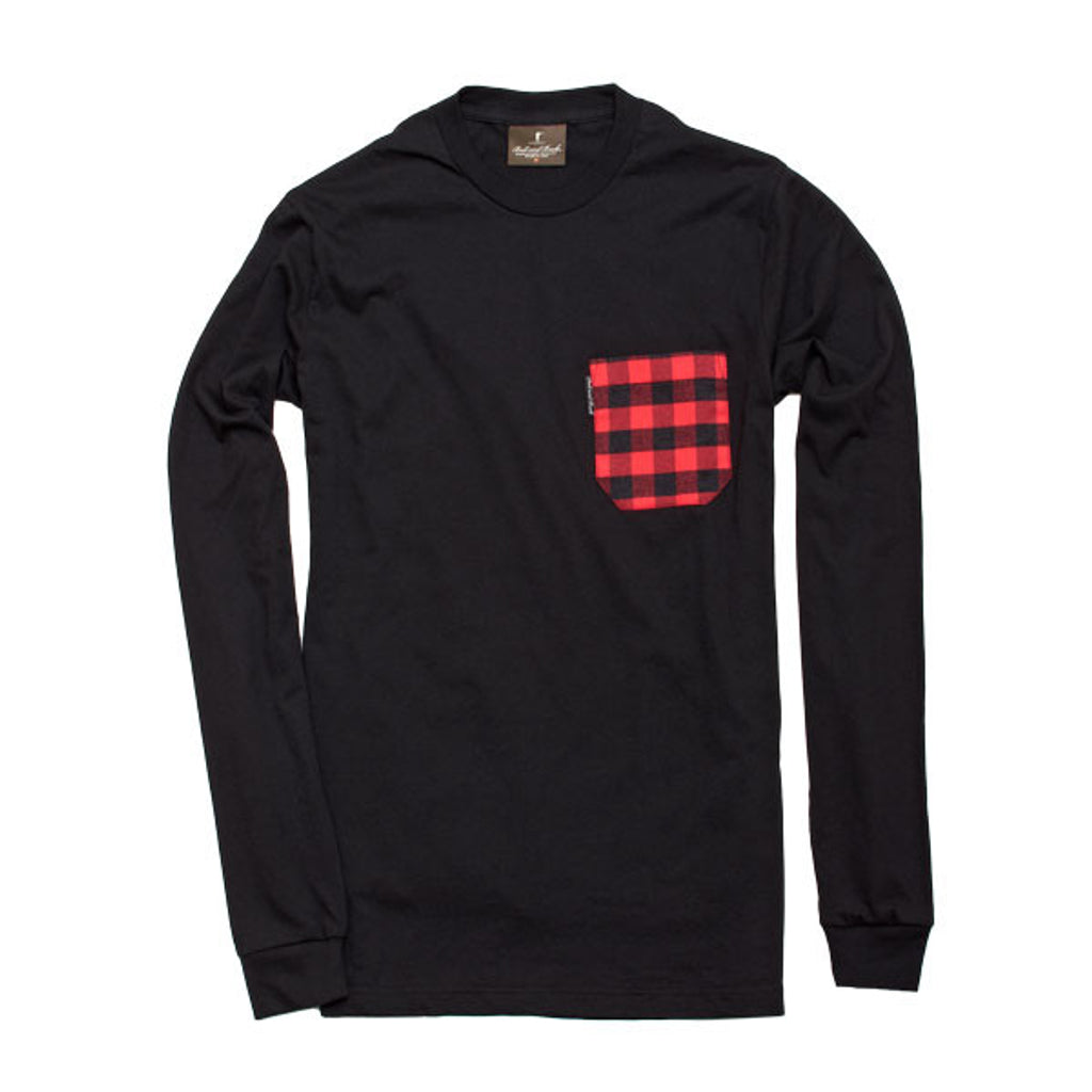 Long Sleeve Pocket Tee - Black/Buffalo