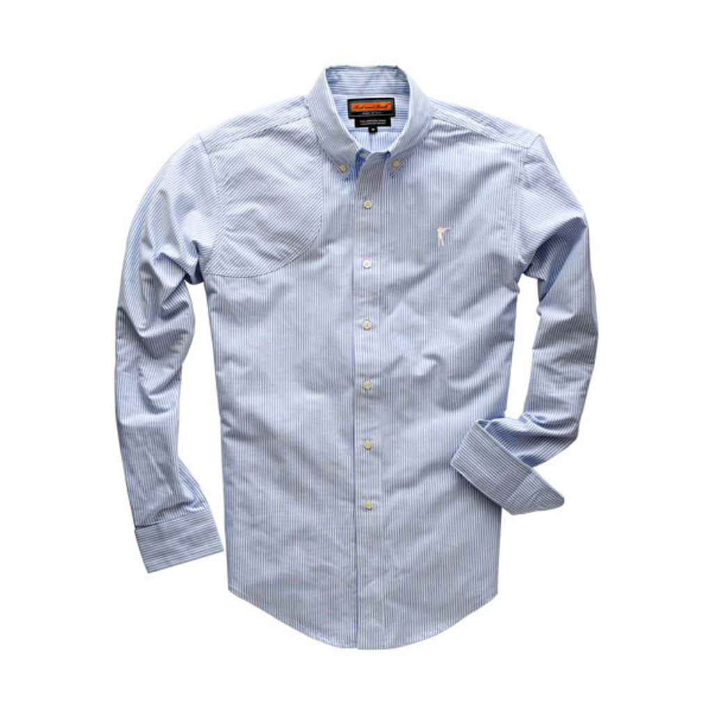 The Striped Oxford Hunter's Shirt, River Blue