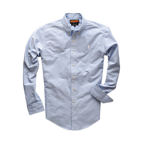 The Striped Oxford Hunters Shirt, River Blue