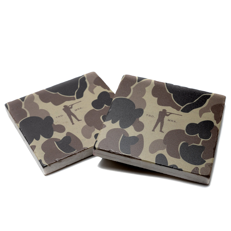 Roger Marble Coasters - Original Camo (Set of 4) - Ball and Buck