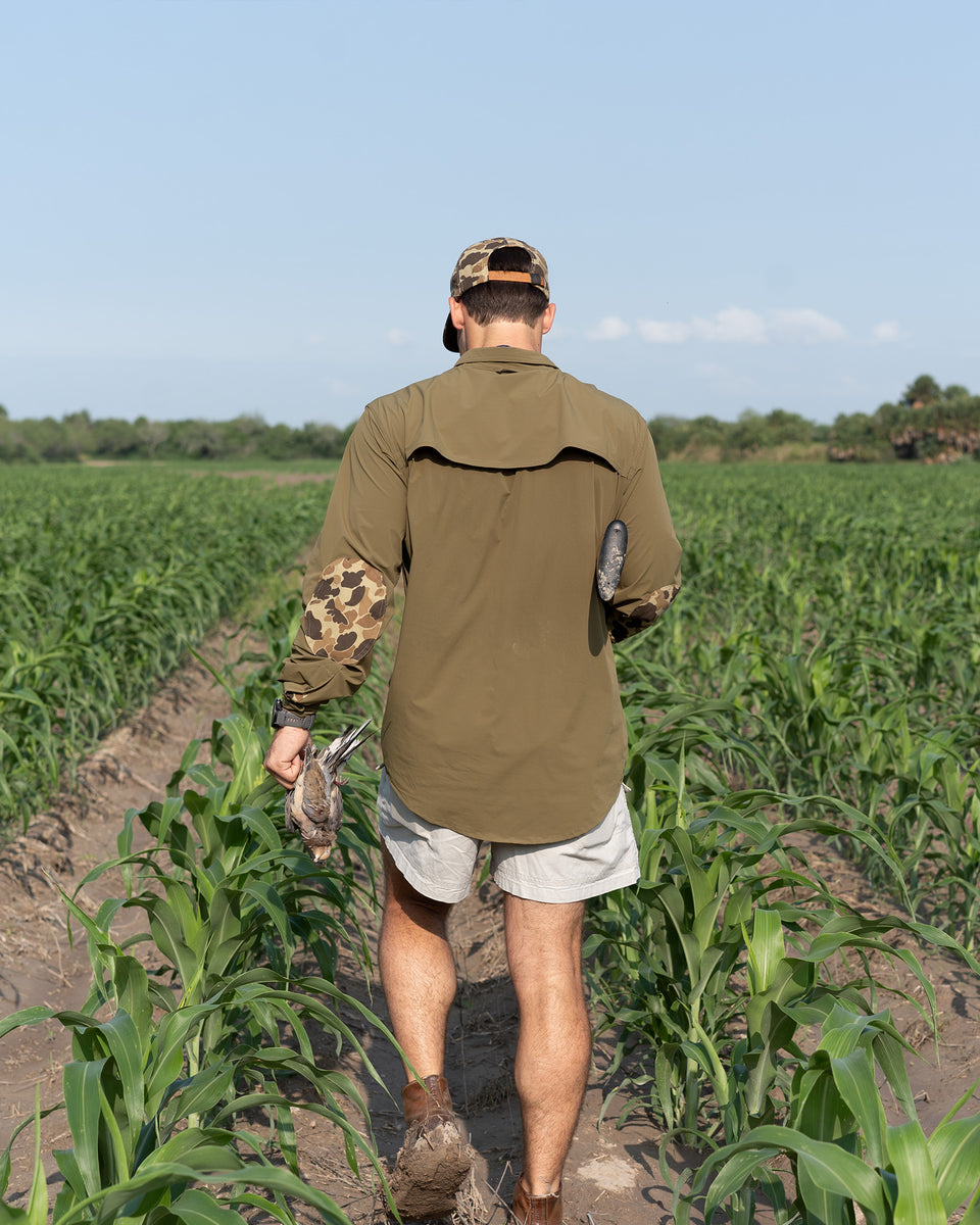 Active Field Shirt +, Olive/Original Camo - Ball and Buck