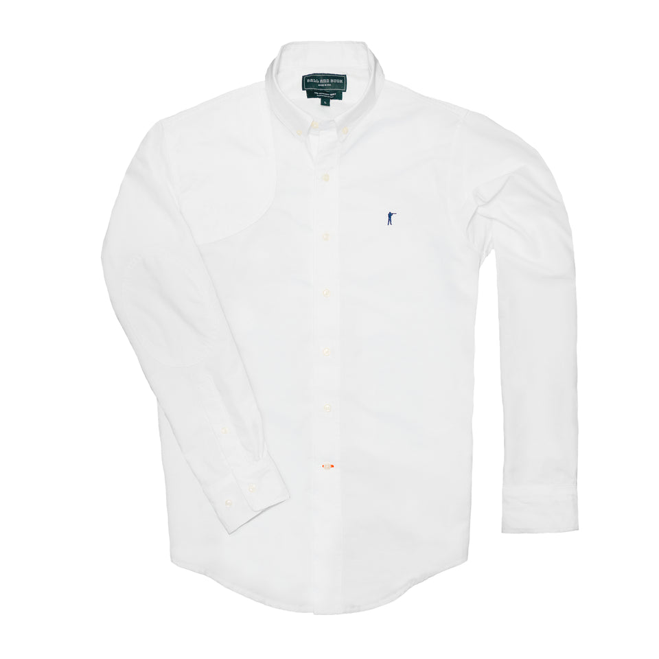 Hunters Dress Shirt - White - Ball and Buck