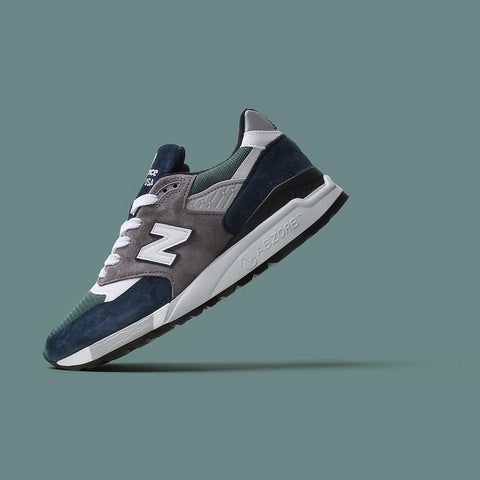 New Balance M998NL - Navy with Teal - alternate image