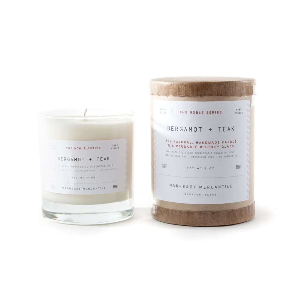 Manready Mercantile - Noble Series Candle - Bergamot + Teak