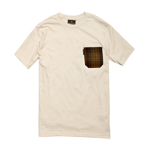 The 5oz Pocket Tee, Natural / Signature Plaid