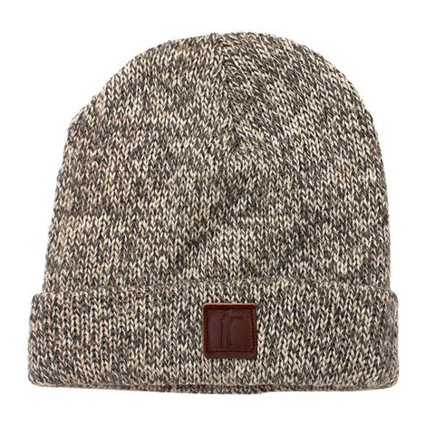Roger Knit Hat, Charcoal Ragg Wool