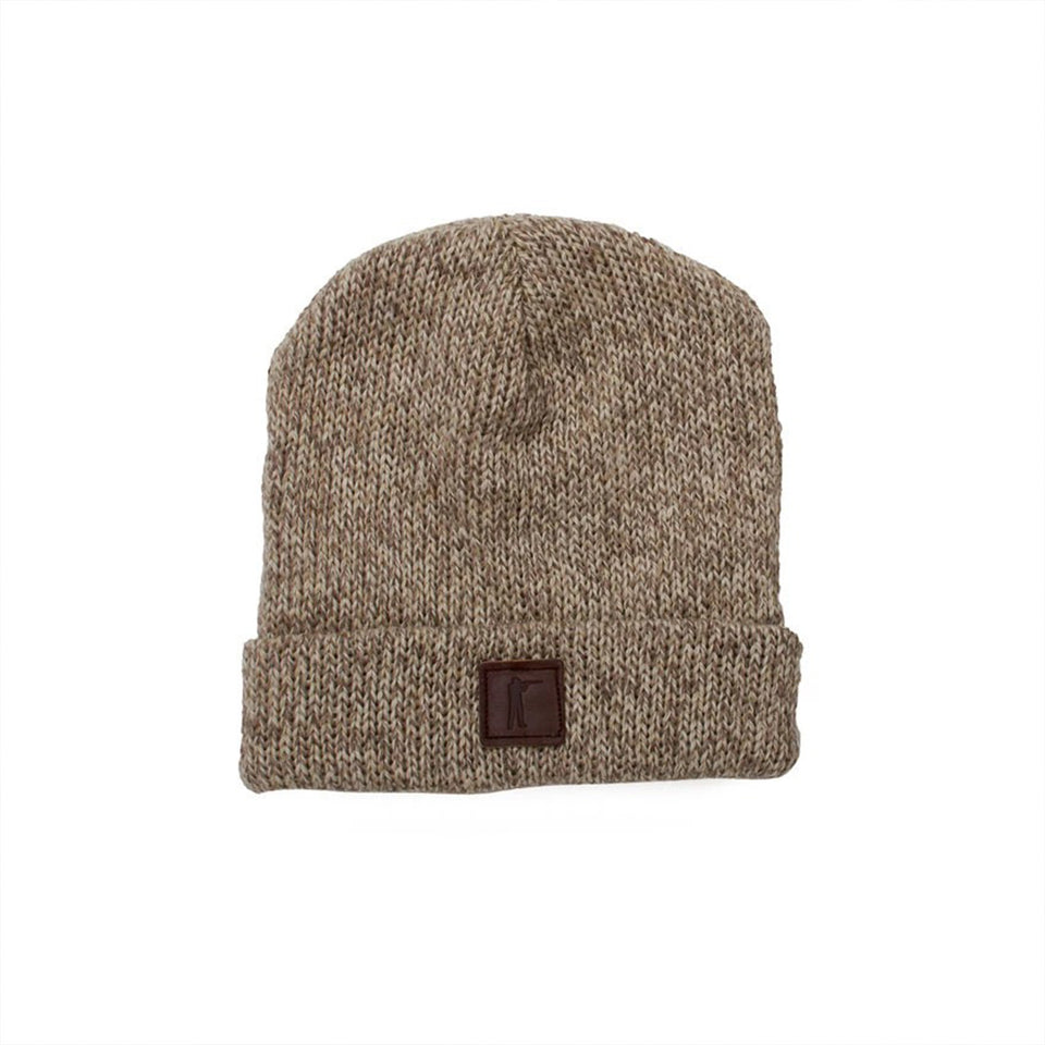 Roger Knit Hat - Oatmeal Ragg Wool - Ball and Buck