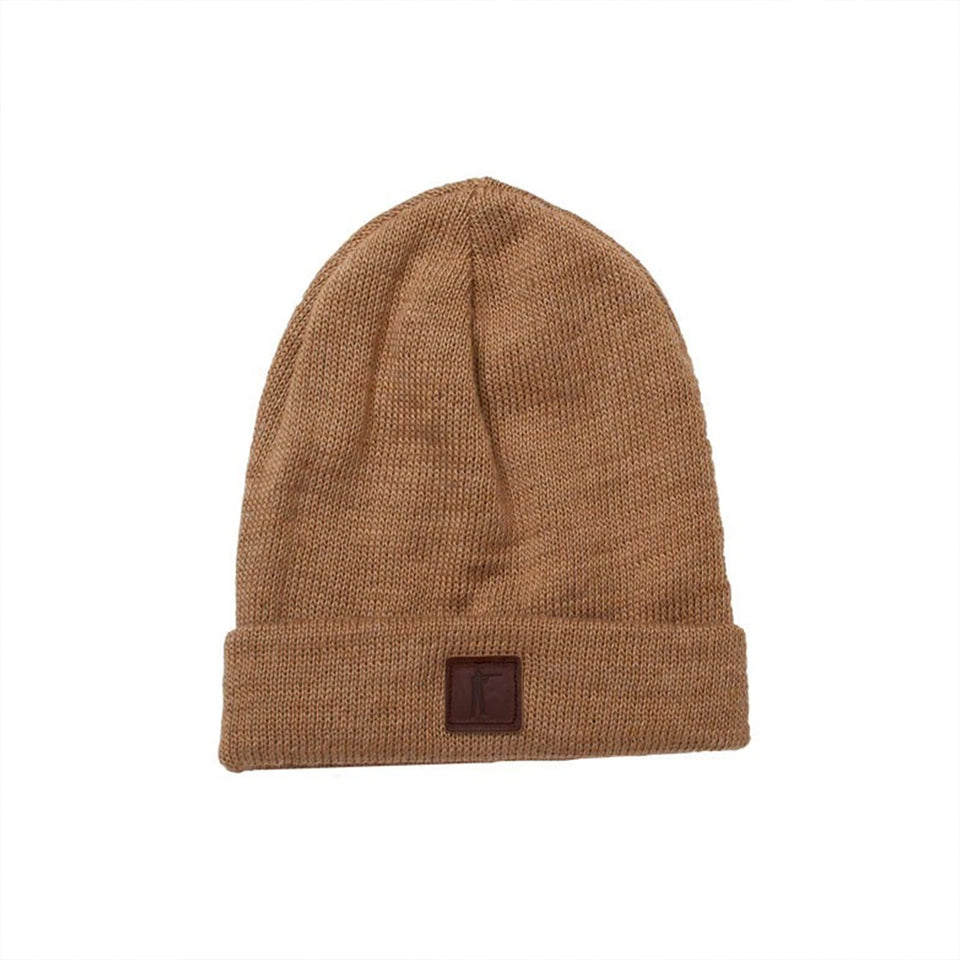 Roger Knit Hat - Sandstone Mohair Blend - Ball and Buck