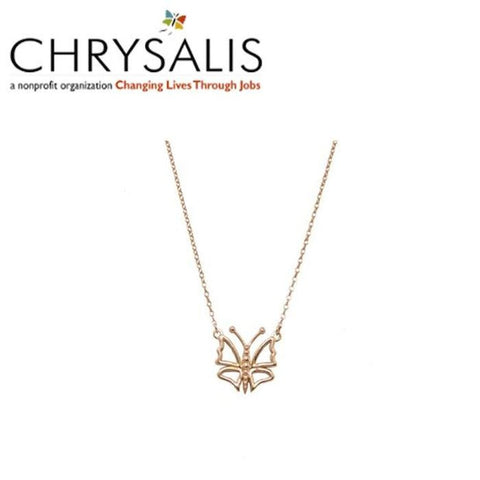 Chrysalis Butterfly Necklace