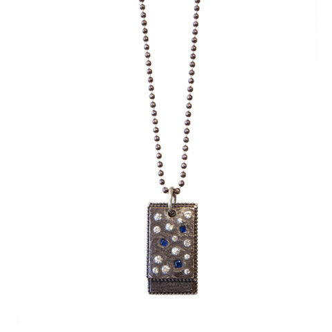 Oxidized Rectangle Necklace