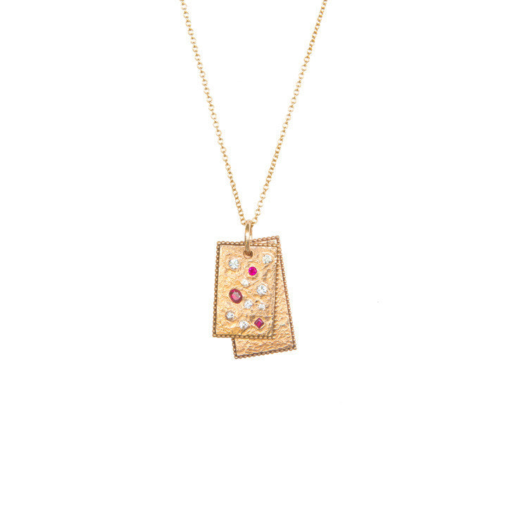Ruby & Rose Rectangle Necklace