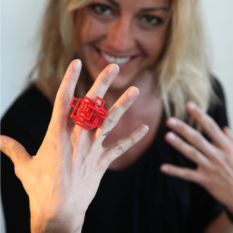 Circuit Cocktail Ring - Melissa Borrell Design