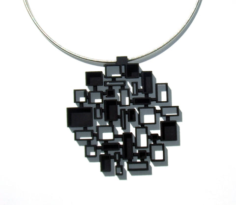 Large Circle Mosaic Pendant - Melissa Borrell Design