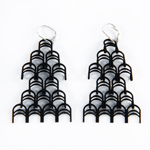 Deco Drop Earrings - Melissa Borrell Design