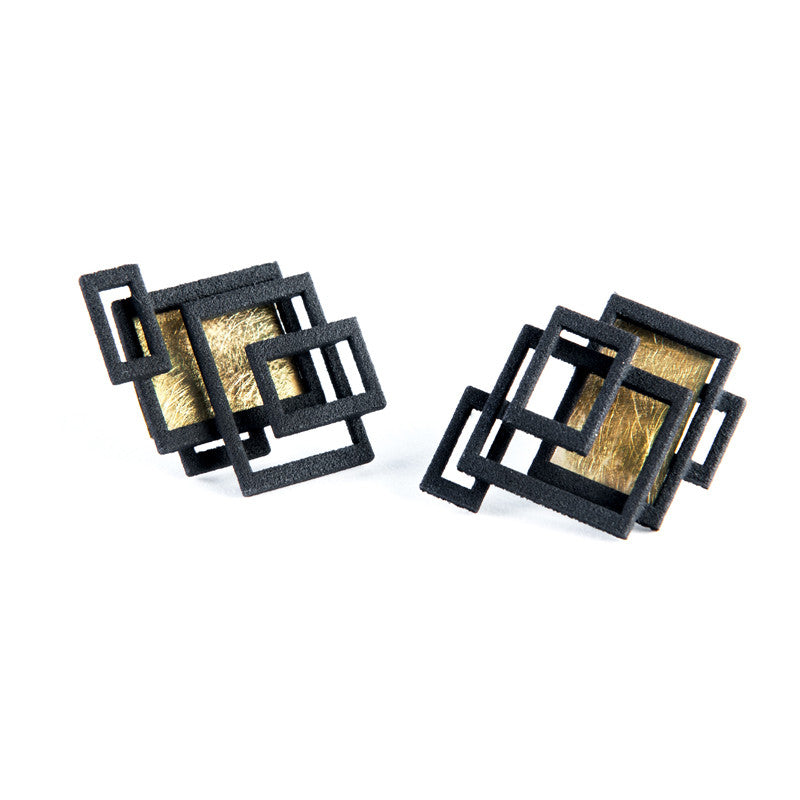 Circuit Ear Studs - Melissa Borrell Design