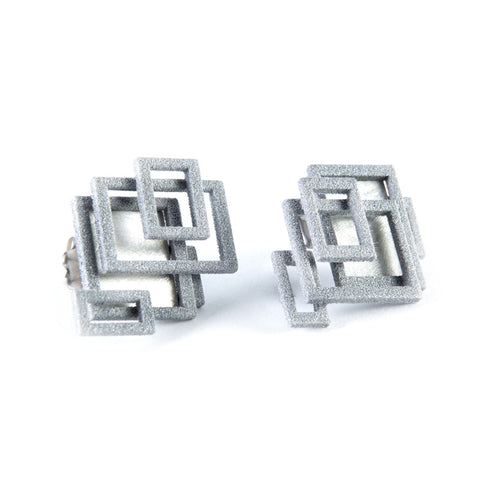 Open Square Ear Studs
