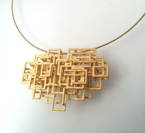 Small Circuit Pendant - Melissa Borrell Design