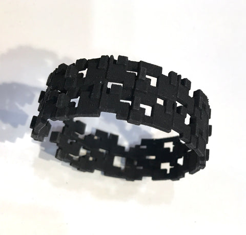 Narrow Blocks Cuff - Melissa Borrell Design
