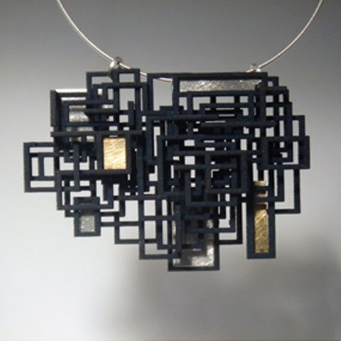 Large Open Square Pendant