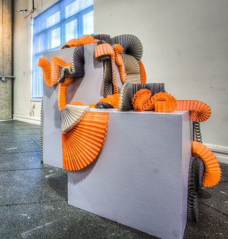 Accordion Installation - Melissa Borrell Design