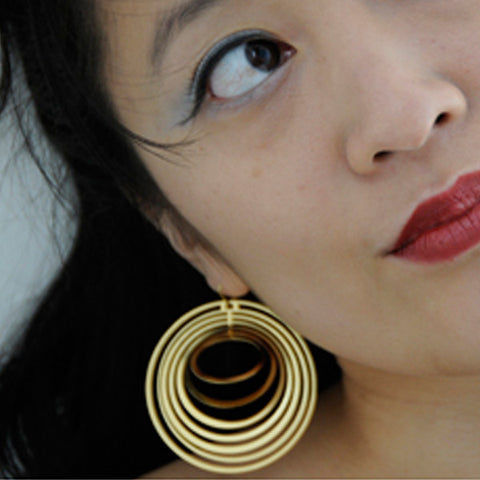 Large Concentric Earrings - Melissa Borrell Design