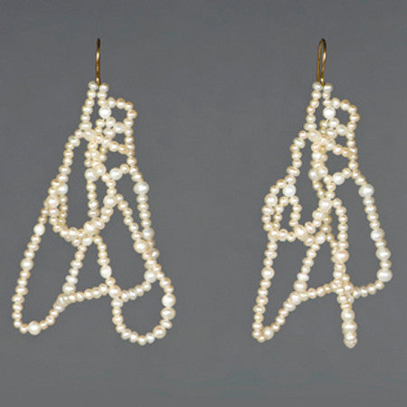 Pearl Mountain Earrings - Melissa Borrell Design