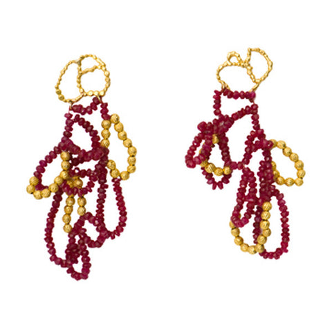 Ruby Mountain Earrings - Melissa Borrell Design