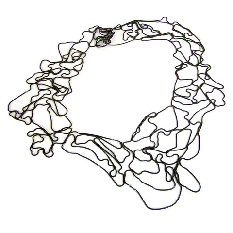 Wide Topography Necklace