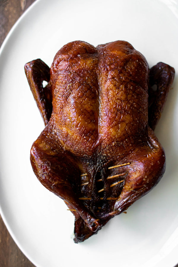 Soy and Black Tea Roasted Duck with Soy-Persimmon Glaze