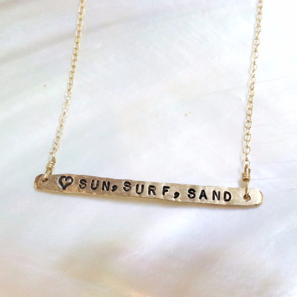 Sun, Surf, Sand Necklace
